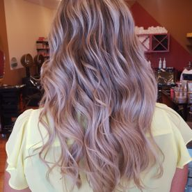 inspired salon wavy dyed